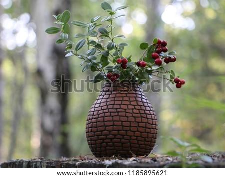 ceramic rustic vases #1185895621