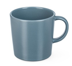 Ceramic tea or coffee cup on white backgrounds include clipping path