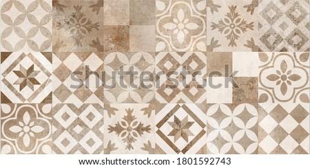 Ceramic tile, Digital home decorative art wall tiles design background for wallpaper, kitchen and washroom - Image ストックフォト ©