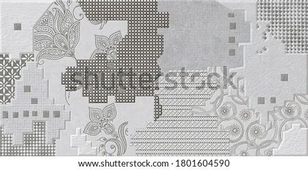 Ceramic tile, Digital wall tiles design home decorative art wall tiles design background for wallpaper, kitchen and bathroom - Image ceramic wall tiles design,digital wall tiles linoleum, textileDecor