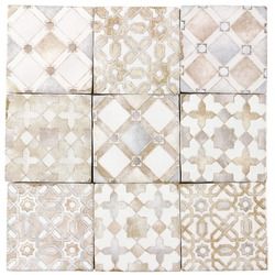 Ceramic Tile texture in Moroccan style in beige seamless