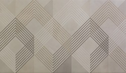 ceramic tile with abstract mosaic geometric pattern