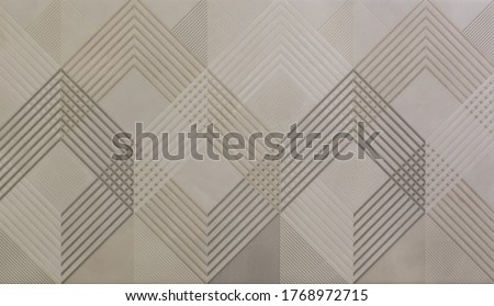 Photo of  ceramic tile with abstract mosaic geometric pattern