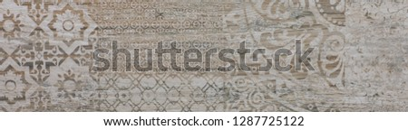 ceramic tile with abstract ornamental floral pattern #1287725122