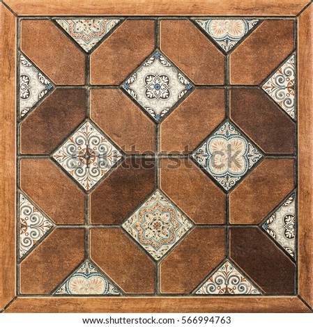 Ceramic tiles, mosaic pattern #566994763