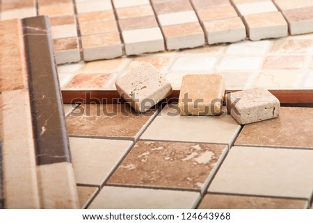 Ceramic tiles of different forms