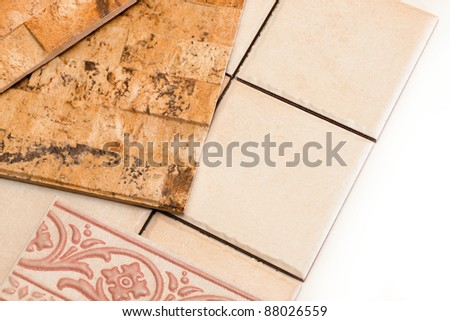 ceramic tiles of various types and forms