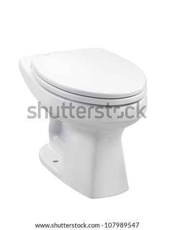 Ceramic toilet bowl with cover