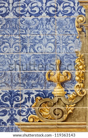 Ceramic wall tiles on Plaza de Espana in Seville, Spain