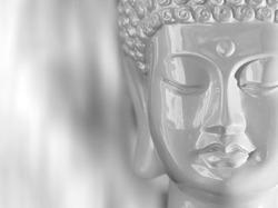 Ceramic white Buddha
