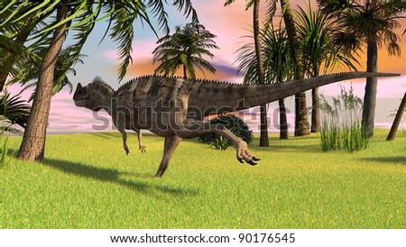 ceratosaurus in jungle