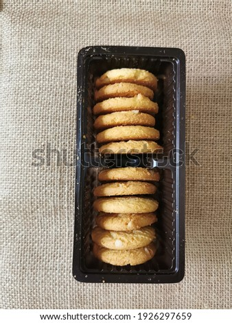Cereal cookies pastries made from wheat flour mixed with butter, sugar, eggs and enriched from many cereals are highly nutritious and make a delicious and tasty snack Stock fotó ©