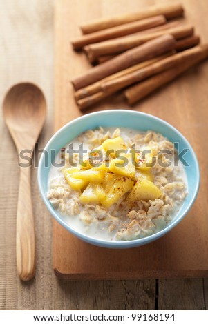 cereal with caramelized apple