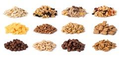 Cereals set isolated on white background