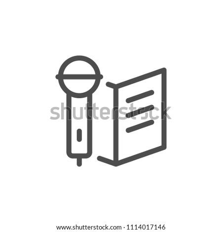 Ceremony line icon isolated on white