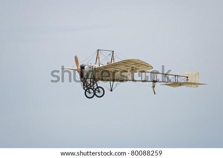 CERNY LA FERTE ALAIS, FRANCE - JUNE 12: Bleriot flying at Aerial Meeting \