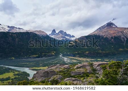 Cerro Castillo Valley, Carretera Austral, Chilean Patagonia Foto stock ©