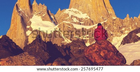 Cerro Fitz Roy in Argentina #257695477