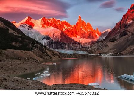 Cerro Torre peak, Los Glaciares National Park, El Chalten, Patagonia, Argentina
