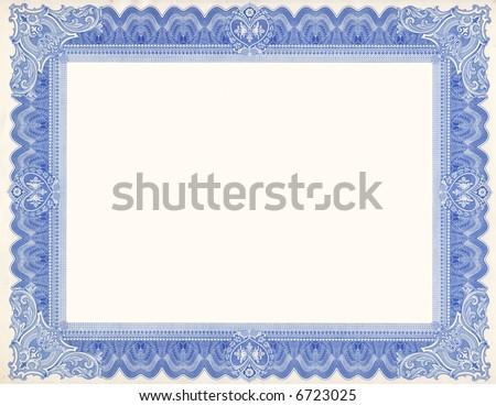 Certificate Border (scan) #6723025