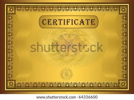 Certificate gold, raster template