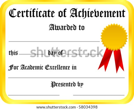 sample of certificate of achievement.