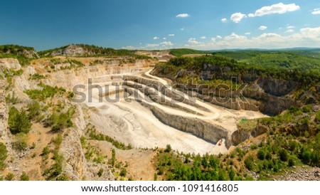 Certovy schody limestone quarry, Koneprusy, Czech public Stock photo ©