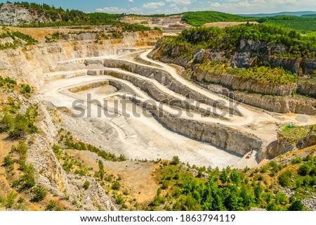Certovy schody limestone quarry, Koneprusy, Czech republic Stock photo ©