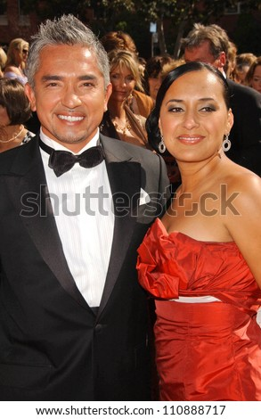 Cesar Millan and wife Illusion at the 2007 Primetime Creative Arts Emmy Awards. Shrine Auditorium, Los Angles, CA. 09-08-07