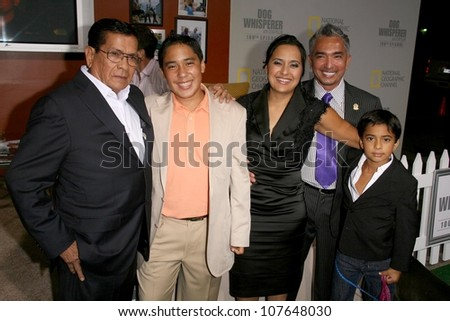 Cesar Millan with Ilusion Millan and family  at the party to celebrate the 100th Episode of 'Dog Whisperer'. Boulevard 3, Hollywood, CA. 09-17-08