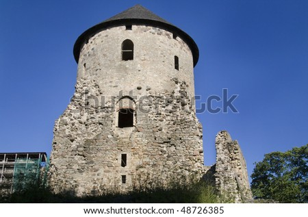 stock-photo-cesis-castle-is-a-livonian-castle-situated-in-cesis-latvia-its-ruins-are-one-of-the-most-majestic-48726385.jpg