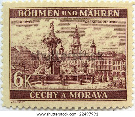 Ceske Budejovice (Czech Republic) mail postage stamps