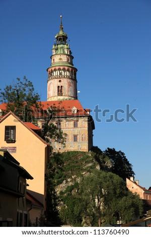 Cesky Krumlov a  historic town in Czech Republic