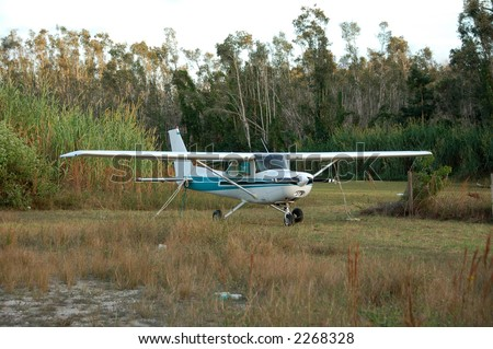 Cessna 172 light private airplane