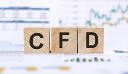 CFD - contract for difference abbreviation, business concept
