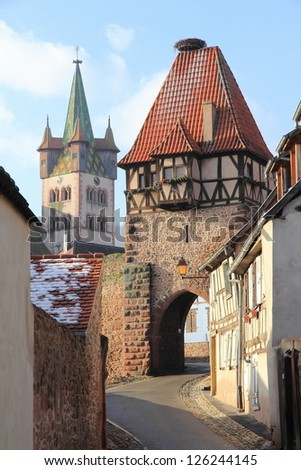 Châtenois, typical village of Alsace