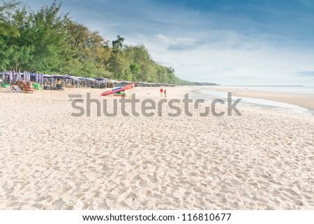 Cha -Am Beach, a famous beach, Thailand
