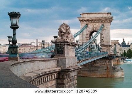 chain bridge is the quintessential symbol to budapest one