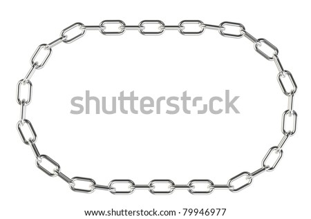 Chain. Chain in a ring. Isolated