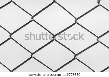Chain Fence, Iron wire fence.