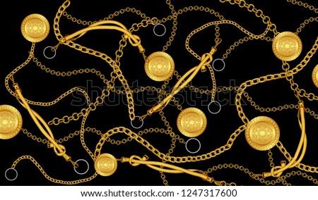 chain gold pattern