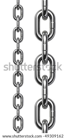 Chain isolated on white background - perfect tiled
