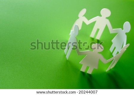 Chain of figures - stock photo