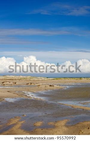 Chain of lagoons, island Djerba, Tunisia, North Africa