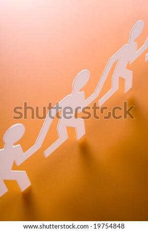 Chain of running figures