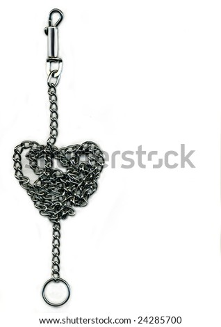 chain rolled up on shape of a heart