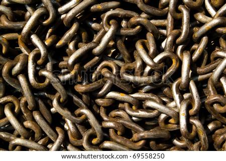 chain texture - stock photo
