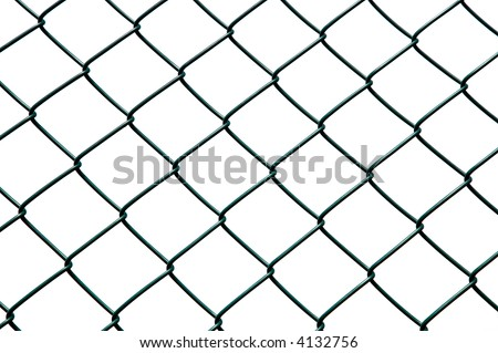 Chainlink fence isolated against a white background.