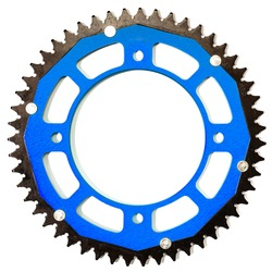 chainrings rear sprocket of a motorcycle on a white background