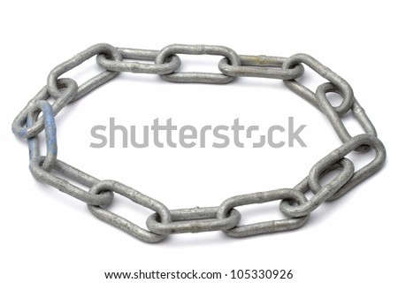 Chains isolated on white background